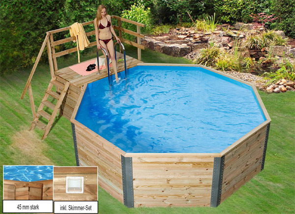 holzpool schwimmbecken holz weka holzpools. Black Bedroom Furniture Sets. Home Design Ideas