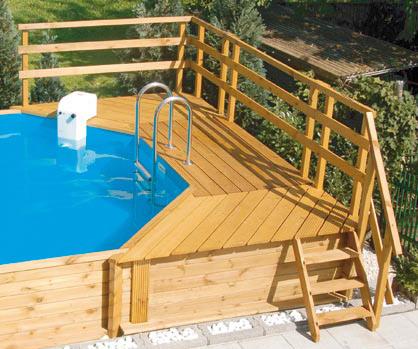 holzpool - schwimmbecken holz - weka holzpools, Garten und Bauen